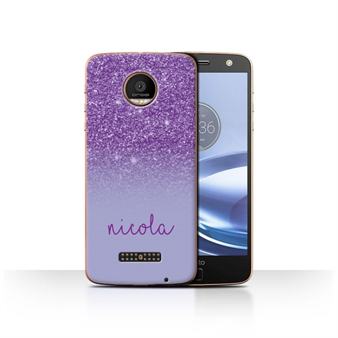 outlet store ed302 8299a Details about Personalized Custom Glitter Effect Phone Case for Motorola  Moto Z Force/Droid