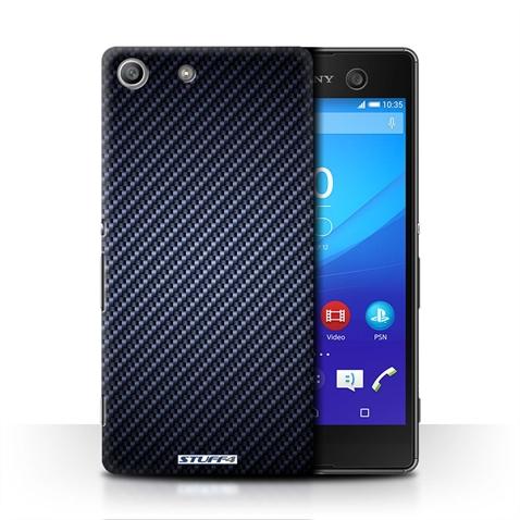 online store 72c6a 1d035 Details about STUFF4 Phone Case/Back Cover for Sony Xperia M5 /Carbon Fibre  Effect/Pattern