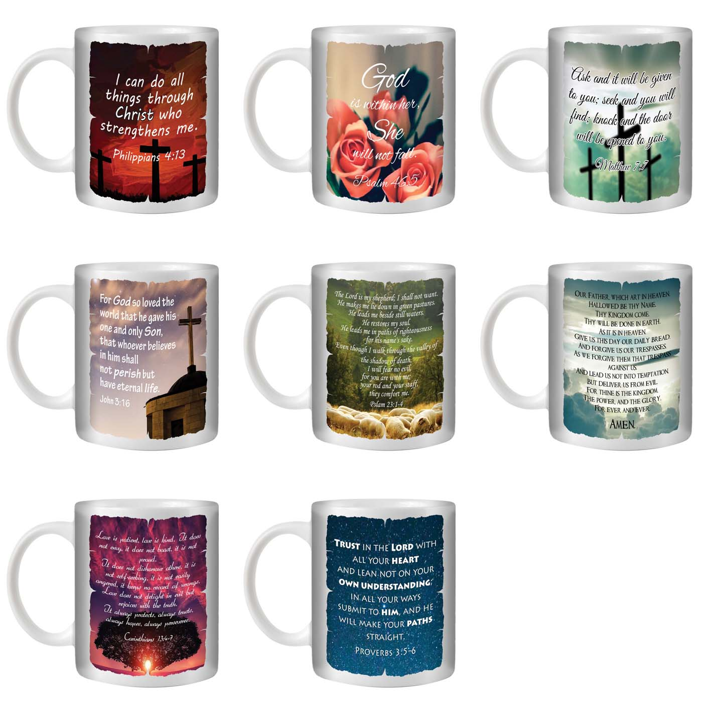 STUFF4 TEA/COFFEE MUG/CUP 350ml/Christian Bible Verse/ST10