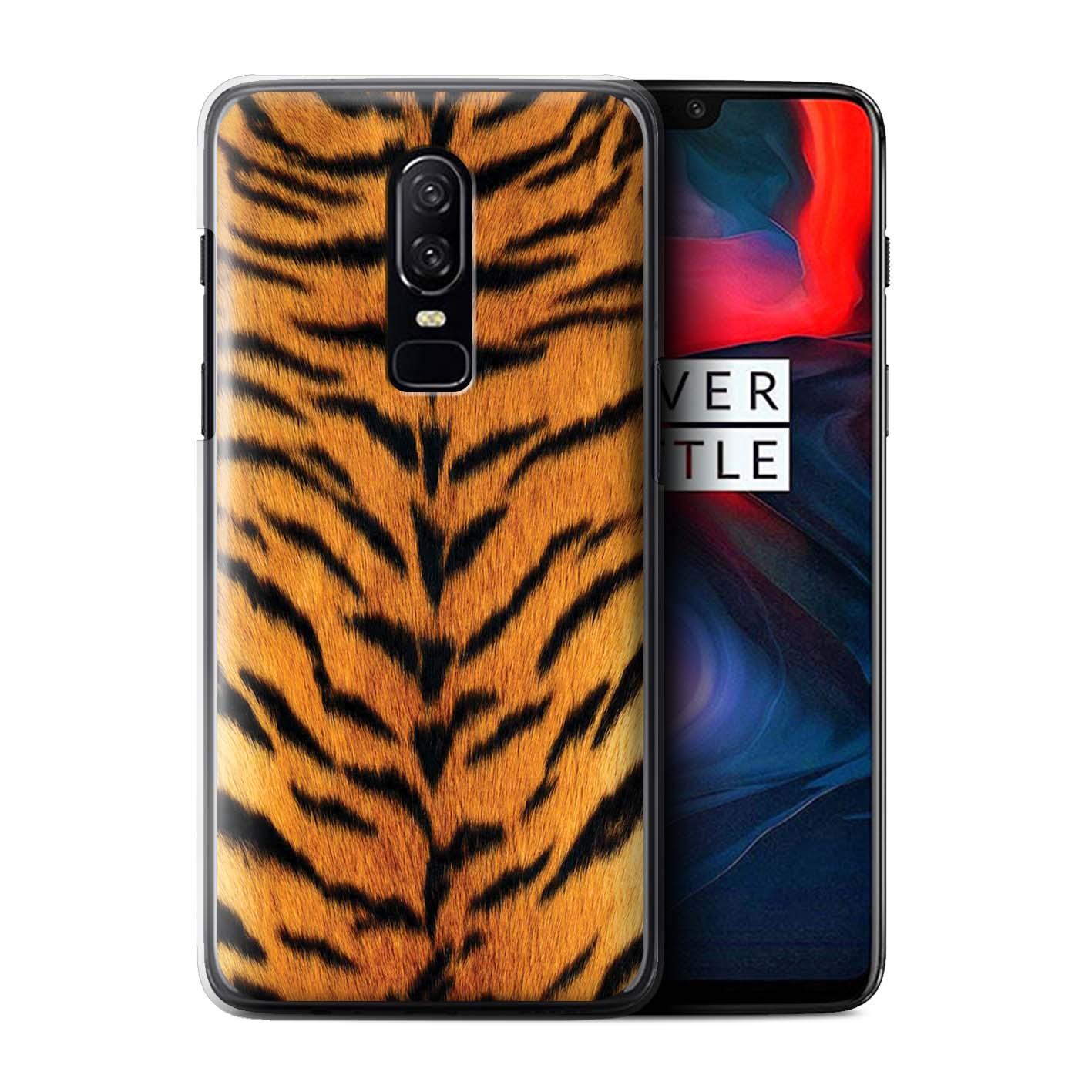 Coque-Etui-Housse-de-Stuff4-pour-OnePlus-6-Tigre-animale-Peau-Motif