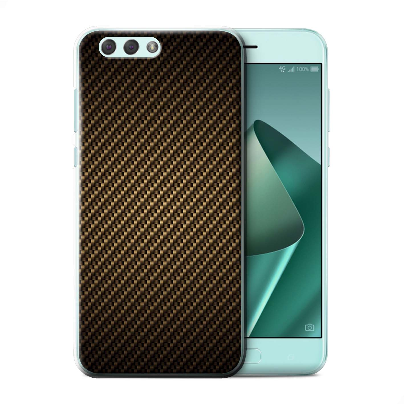Back-Case-Cover-Skin-for-Asus-Zenfone-4-ZE554KL-Carbon-Fibre-Effect-Pattern