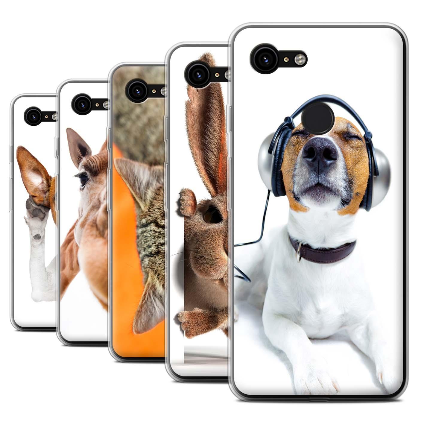 Gel-TPU-Case-for-Google-Pixel-3-Funny-Animals