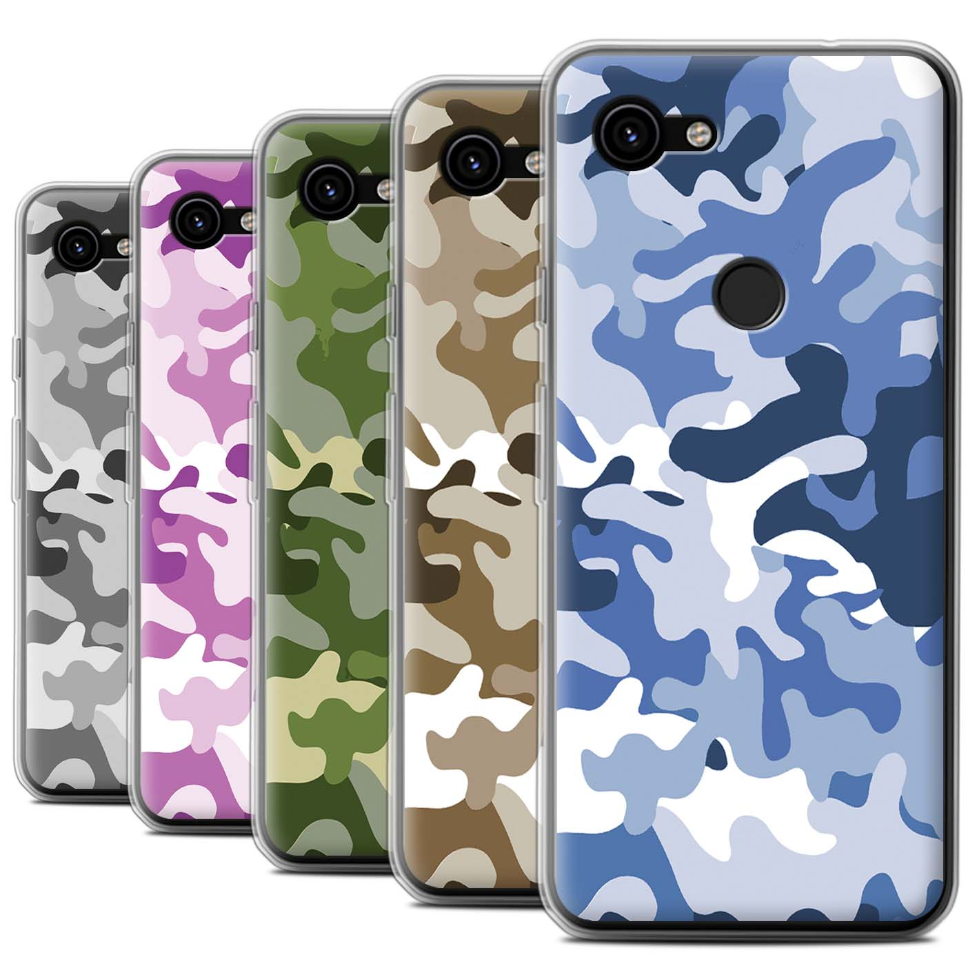 Gel-TPU-Case-for-Google-Pixel-3a-XL-Camouflage-Army-Navy