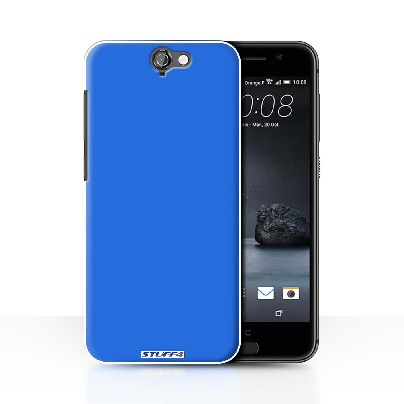 2fcc35c52 Blue Colours Design for Htc One A9 Clear Hard Back Case