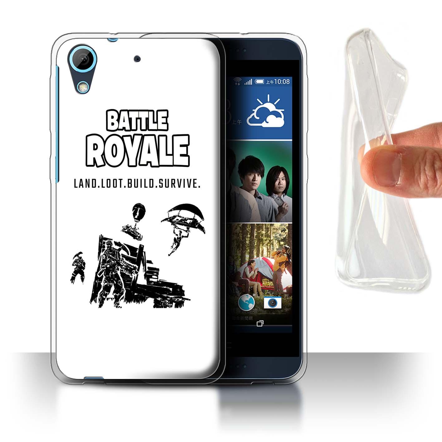 STUFF4-Gel-TPU-Phone-Case-for-HTC-Desire-626-FN-Battle-Royale