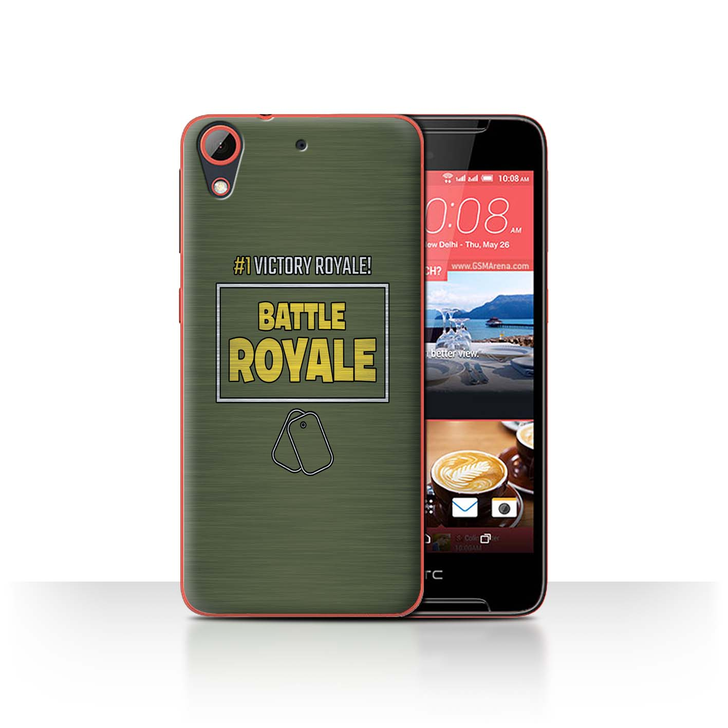 STUFF4-Phone-Case-Back-Cover-for-HTC-Desire-628-FN-Battle-Royale