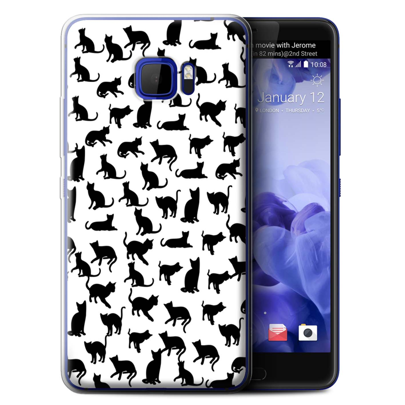 STUFF4-Gel-TPU-Case-Cover-for-HTC-U-Ultra-Ocean-Note-Cute-Cartoon-Cat