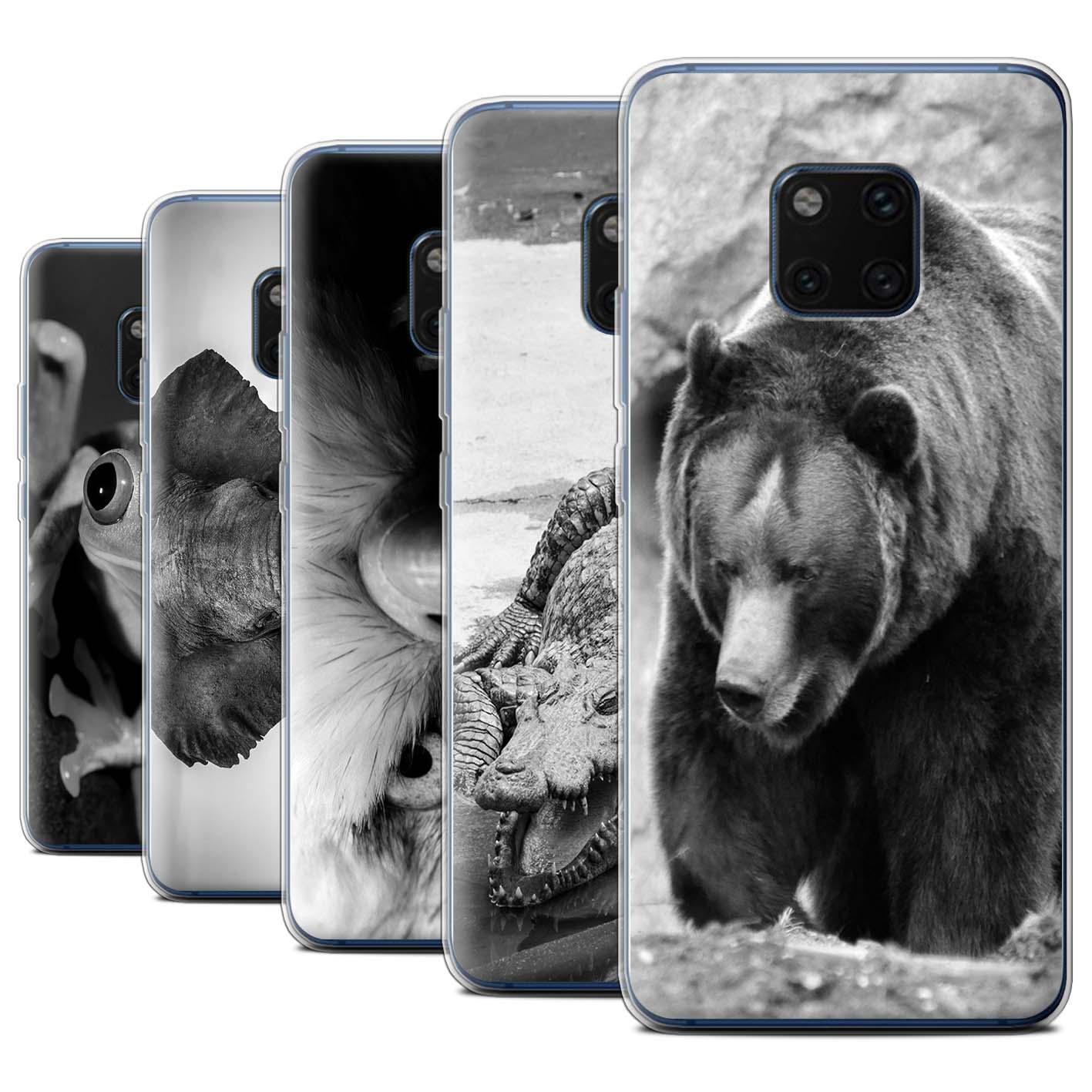 Gel-TPU-Case-for-Huawei-Mate-20-Pro-Mono-Zoo-Animals