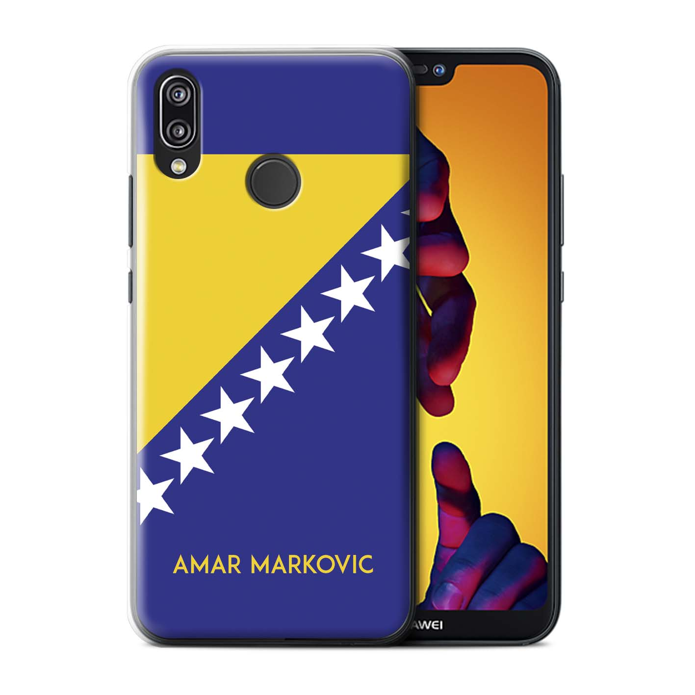 Personalised-Case-for-Huawei-P20-Lite-2018-Custom-National-Nation-Flag-2 thumbnail 10