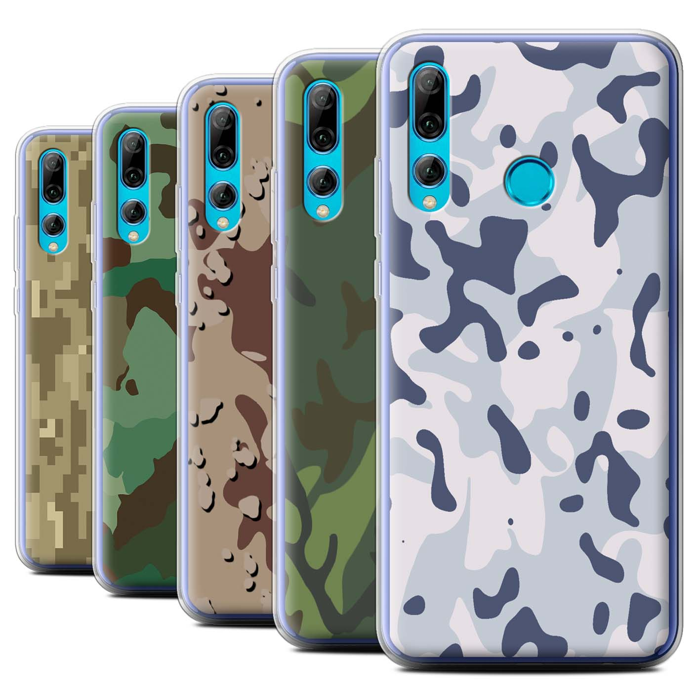 Gel-TPU-Case-for-Huawei-P-Smart-2019-Honor-20-Lite-Military-Camo-Camouflage