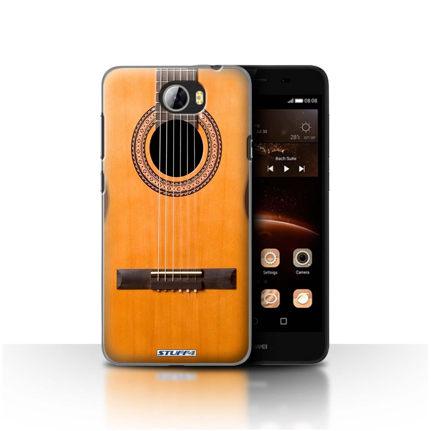wood wooden acoustic guitar design for huawei y5ii y5 2 clear hard