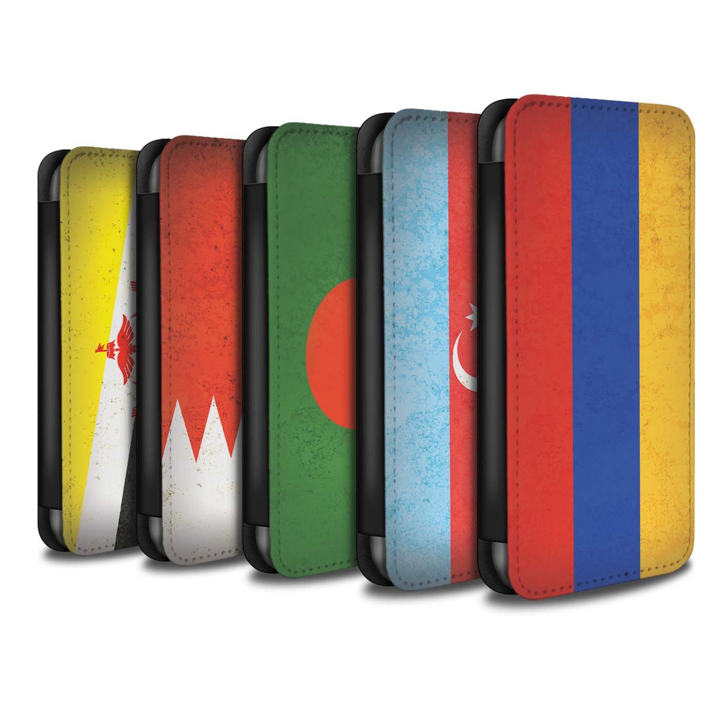 Case-Wallet-for-Apple-iPhone-5-5S-Asian-Flag thumbnail 1