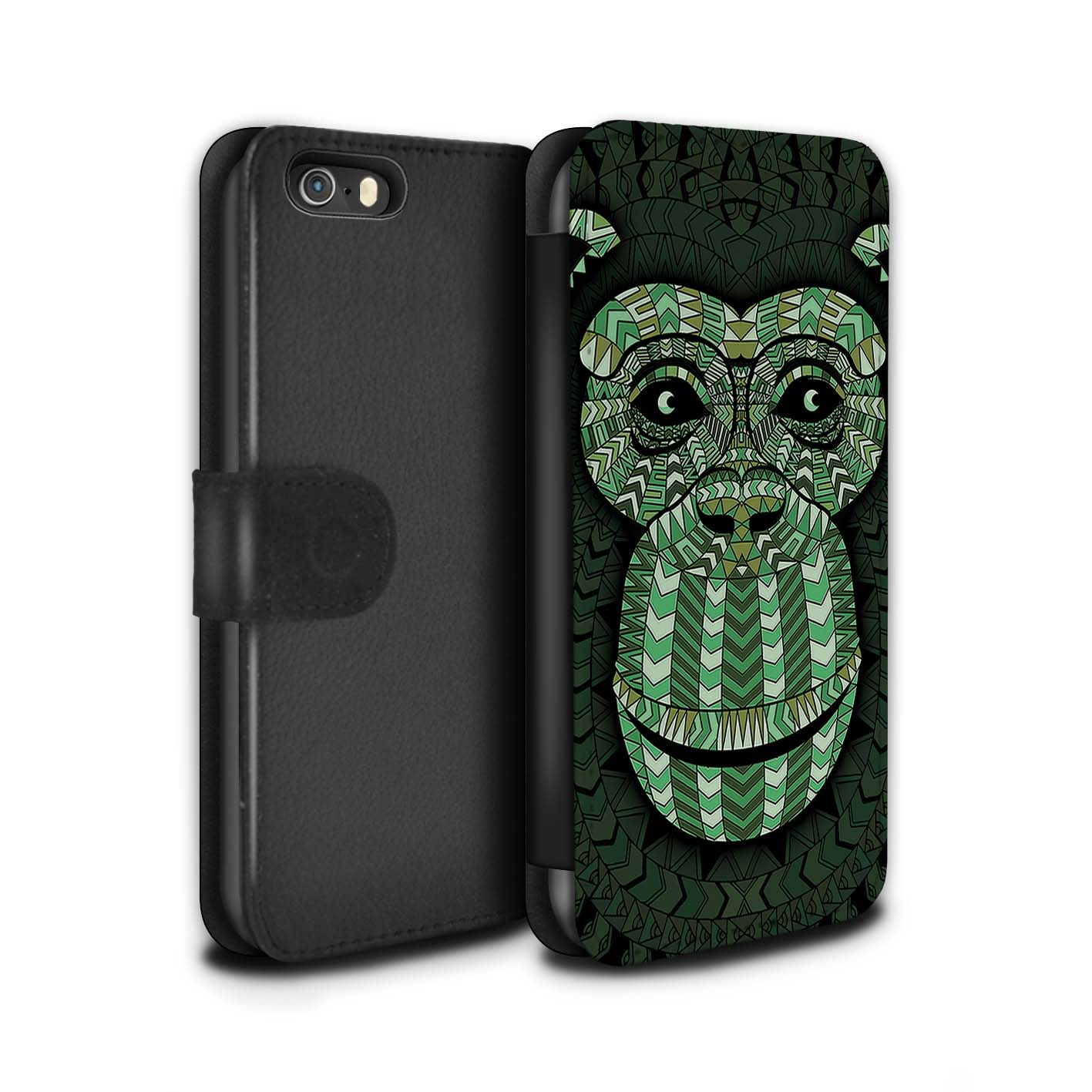 Case-Wallet-for-Apple-iPhone-5-5S-Aztec-Animal-Design thumbnail 19