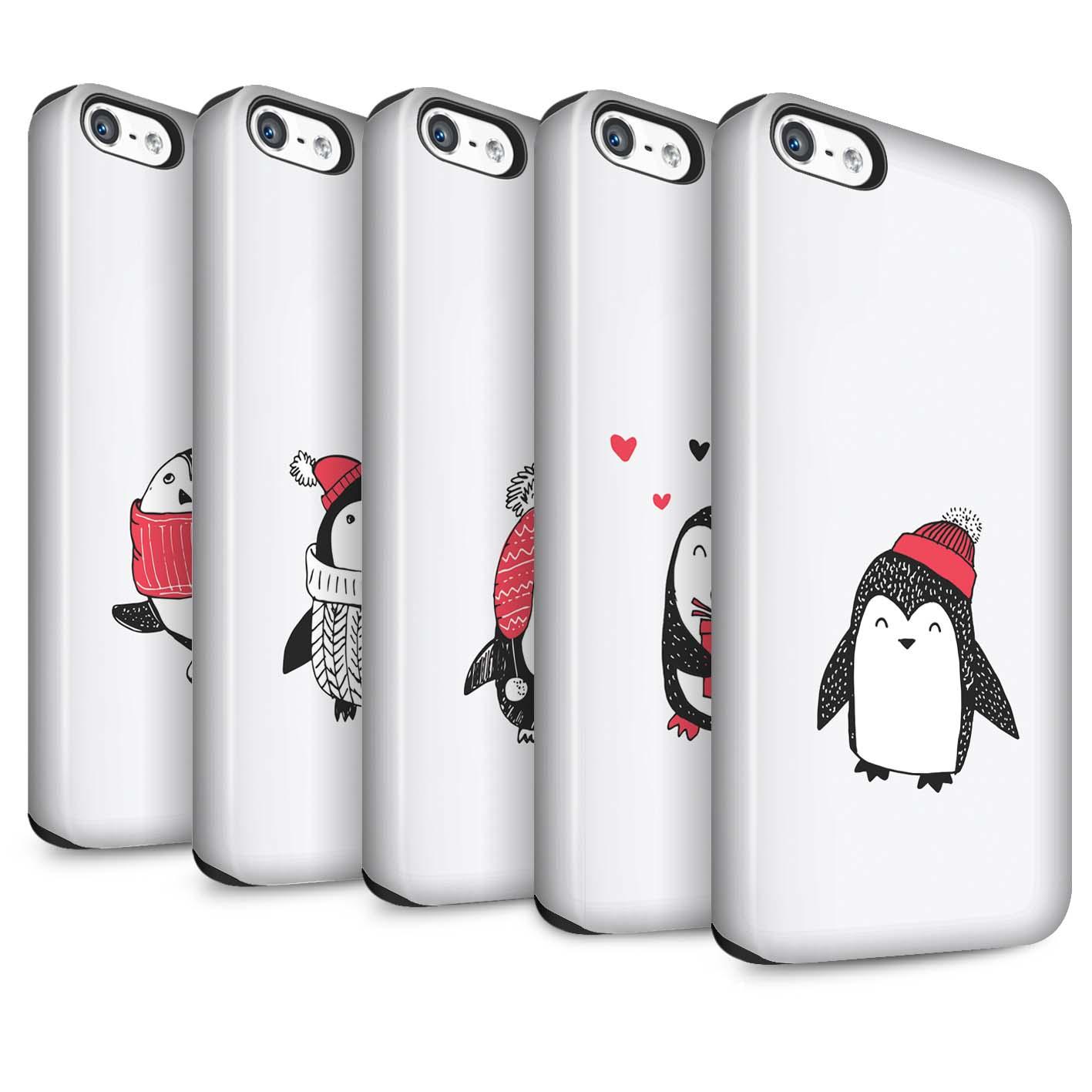 STUFF4 Matte Tough Phone Case for Apple iPhone SE /Cute Dood