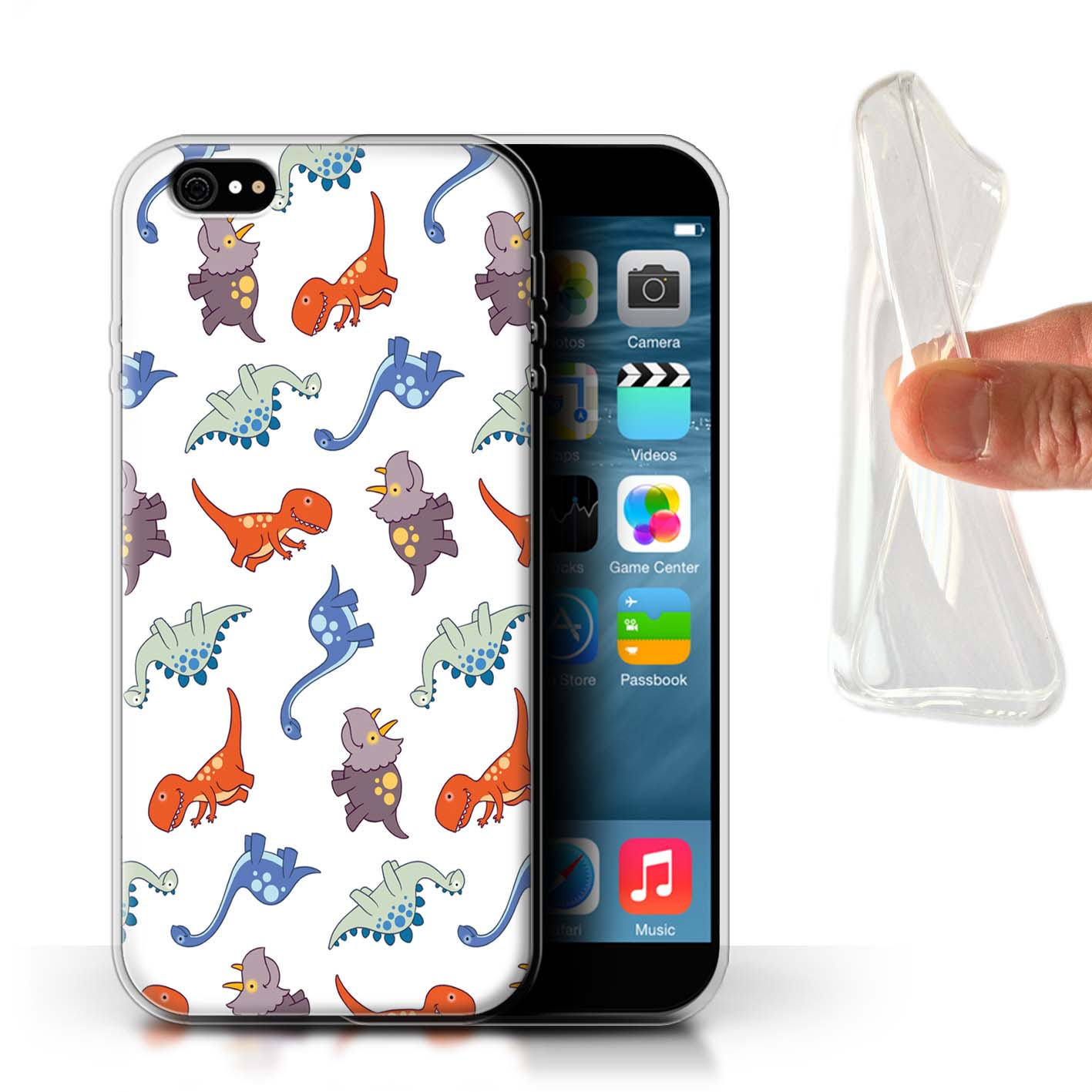 STUFF4-Gel-TPU-Case-Cover-for-Apple-iPhone-6-Plus-5-5-Cartoon-Dinosaurs