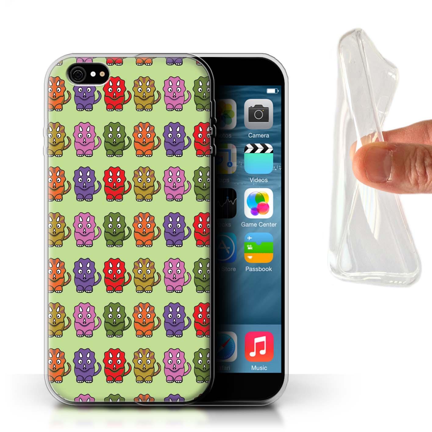 STUFF4-Gel-TPU-Case-Cover-for-Apple-iPhone-6-Plus-5-5-Cartoon-Dinosaurs