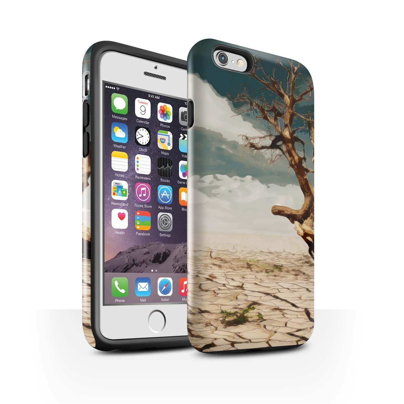 STUFF4-Gloss-Tough-Phone-Case-for-Apple-iPhone-6S-Beautiful-World-Art