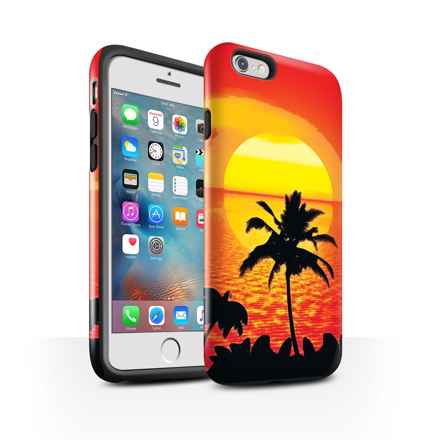 STUFF4-Gloss-Tough-Phone-Case-for-Apple-iPhone-6S-Plus-Beautiful-World-Art