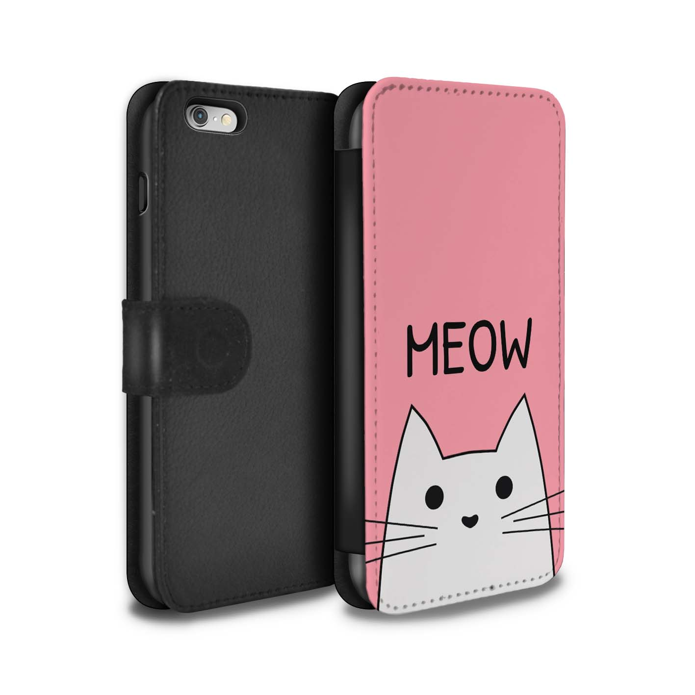 Coque-Etui-Case-Cuir-PU-pour-Apple-iPhone-6S-Plus-Chat-Mignon-Dessin-Anime