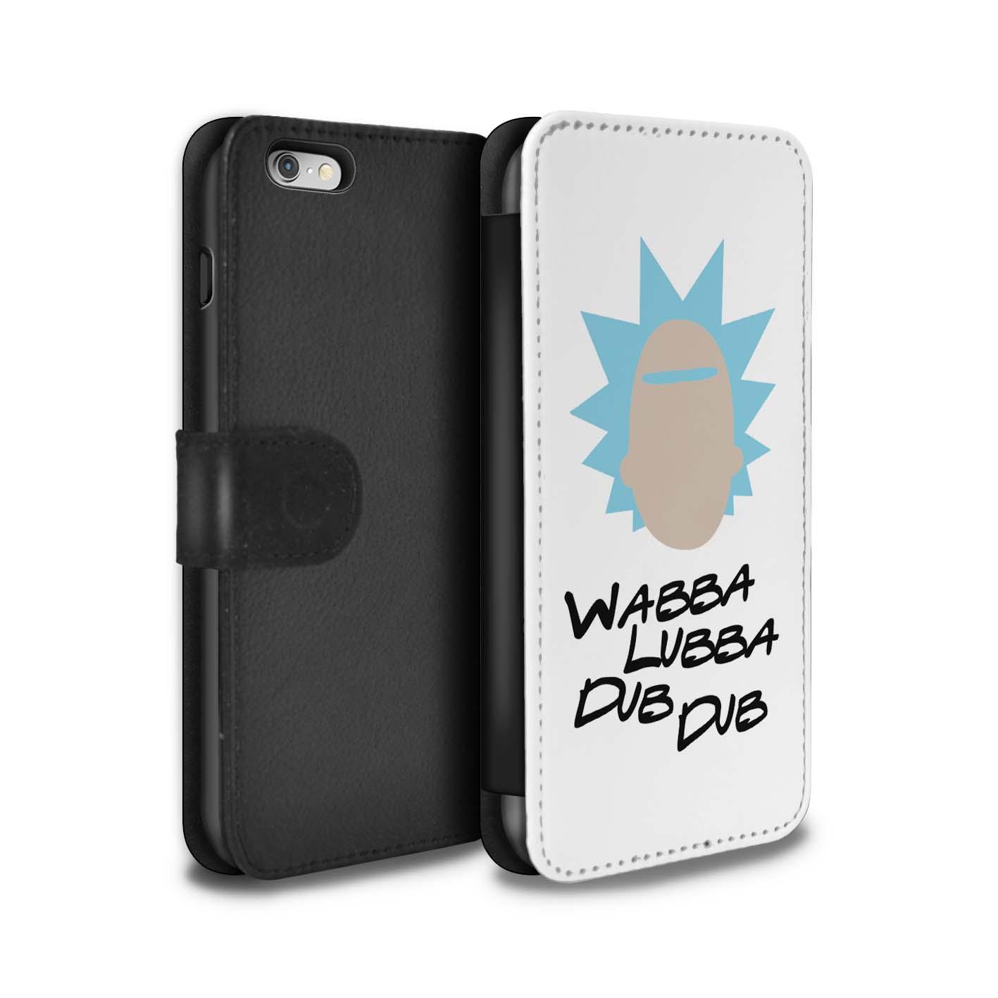 Coque-Etui-Case-Cuir-PU-pour-Apple-iPhone-6S-Plus-Tele-Alien-Drole-Dessin-Anime