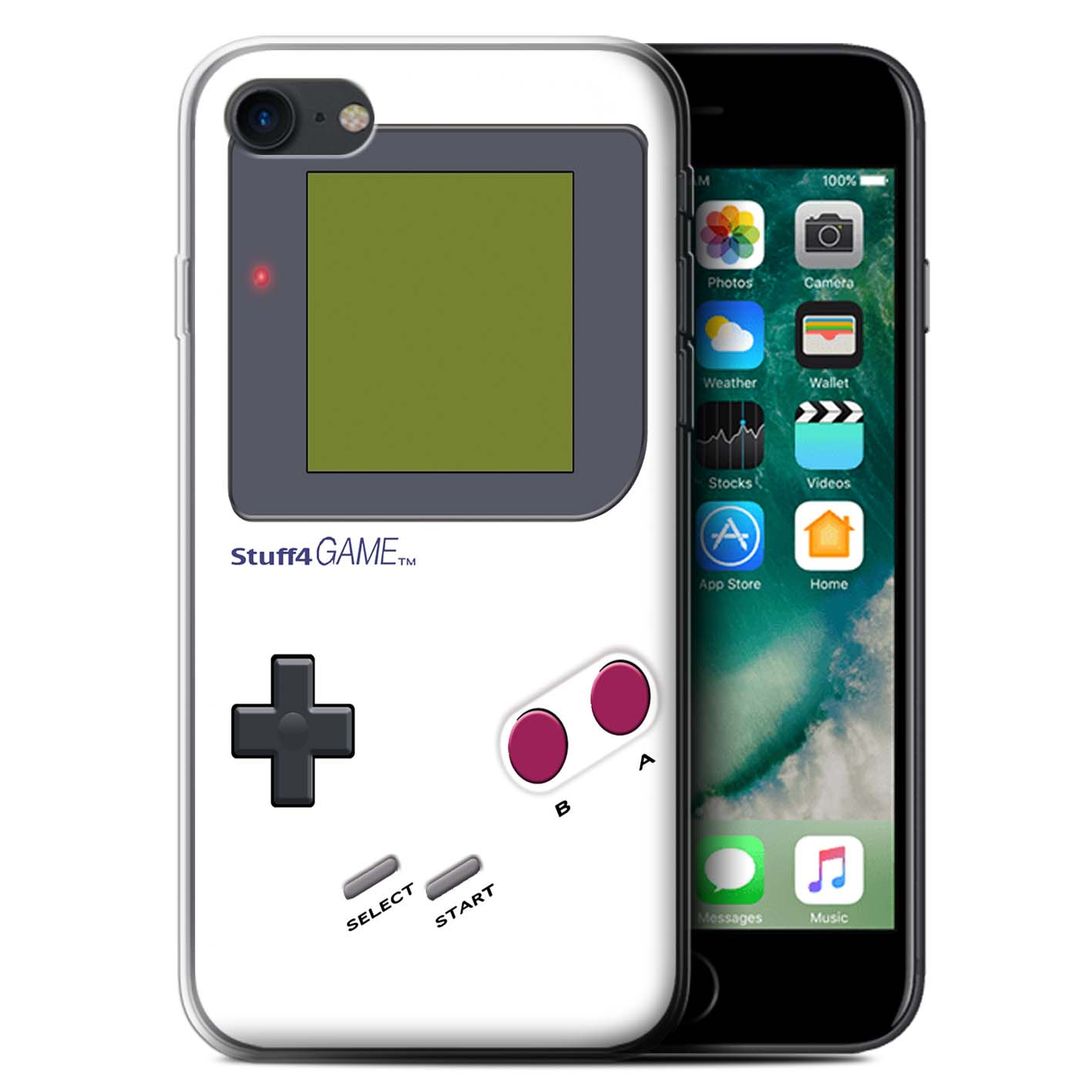 Gel-TPU-Case-for-Apple-iPhone-7-Video-Gamer-Gameboy thumbnail 15