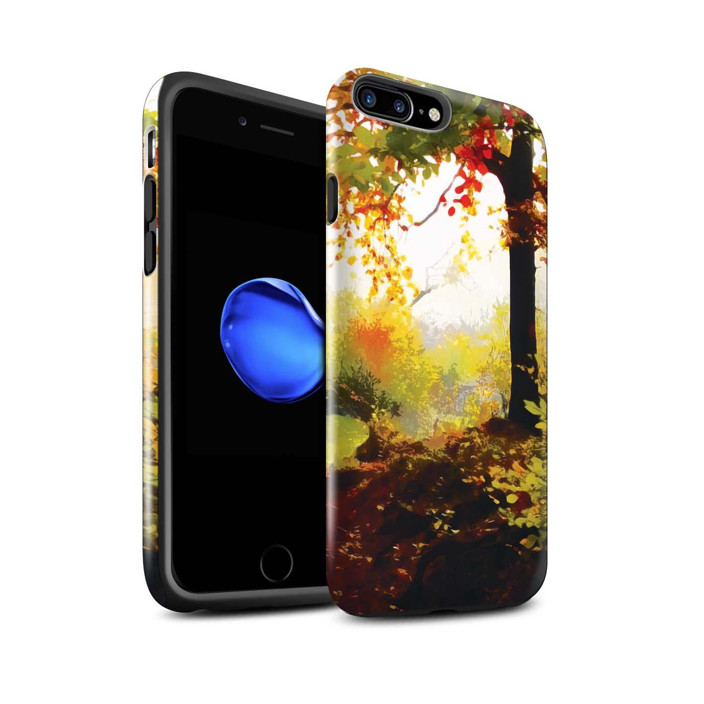 STUFF4-Gloss-Tough-Phone-Case-for-Apple-iPhone-7-Plus-Beautiful-World-Art