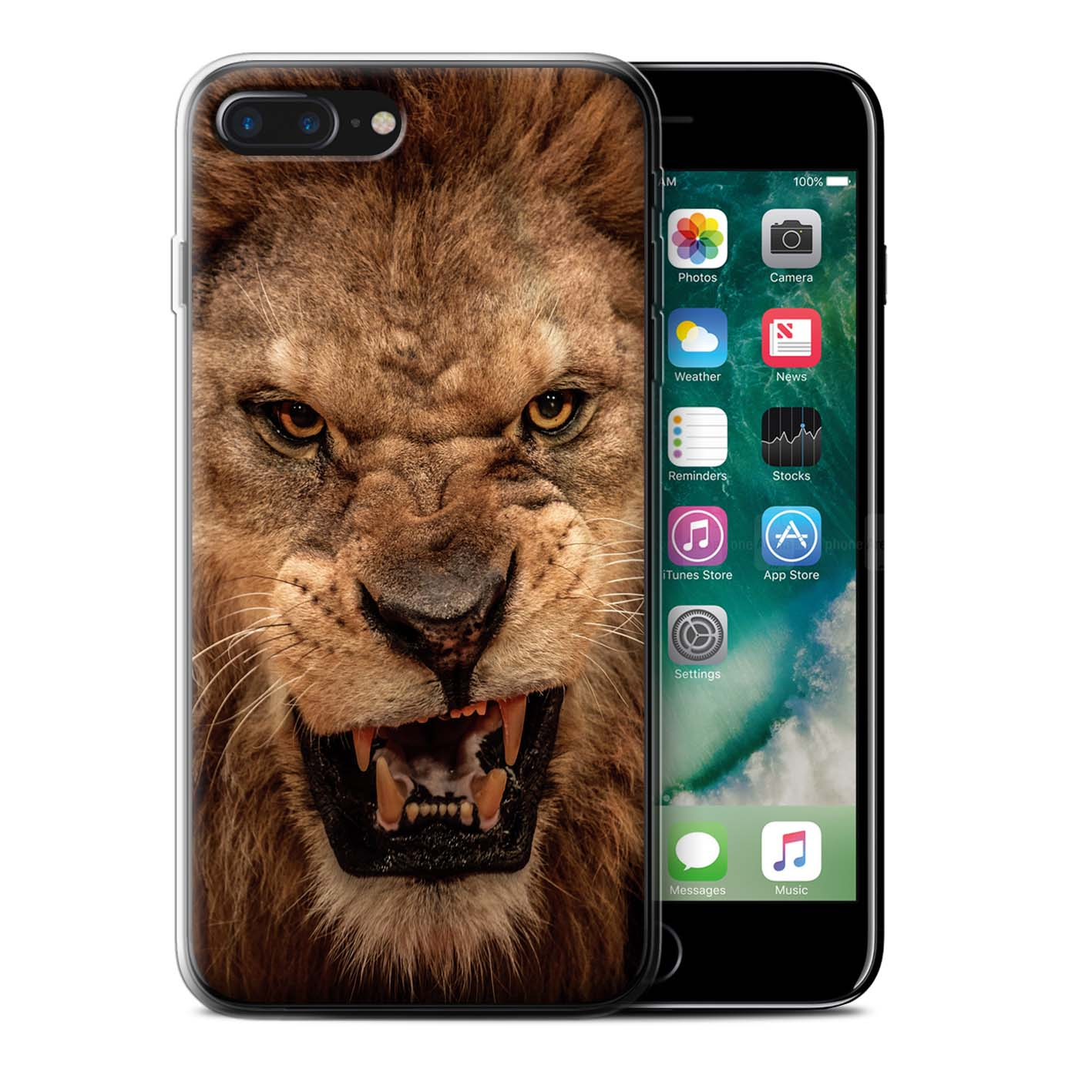 Gel-TPU-Case-for-Apple-iPhone-7-Plus-Wildlife-Animals thumbnail 16