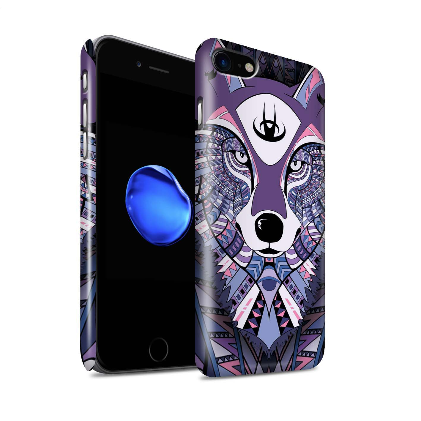 Gloss-Phone-Case-for-Apple-iPhone-8-Aztec-Animal-Design thumbnail 45