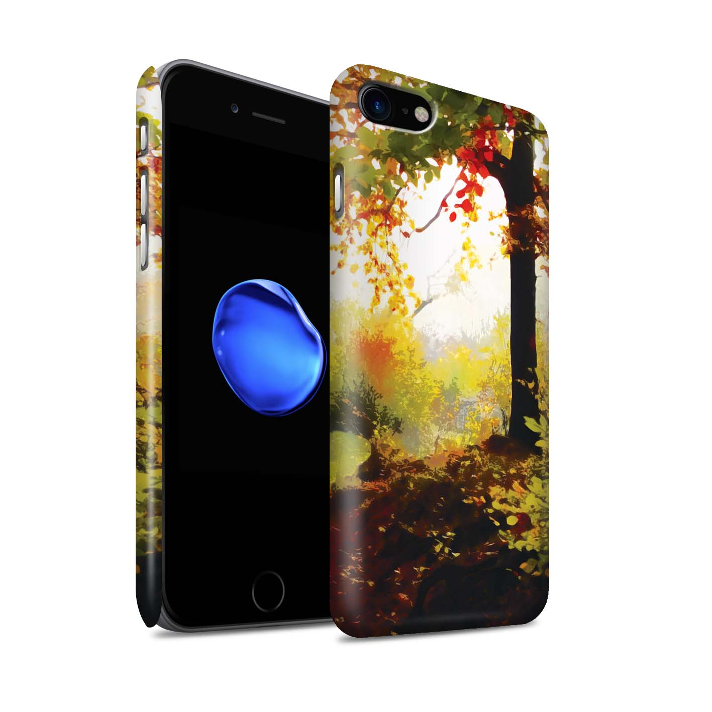 STUFF4-Matte-Phone-Case-for-Apple-iPhone-8-Beautiful-World-Art