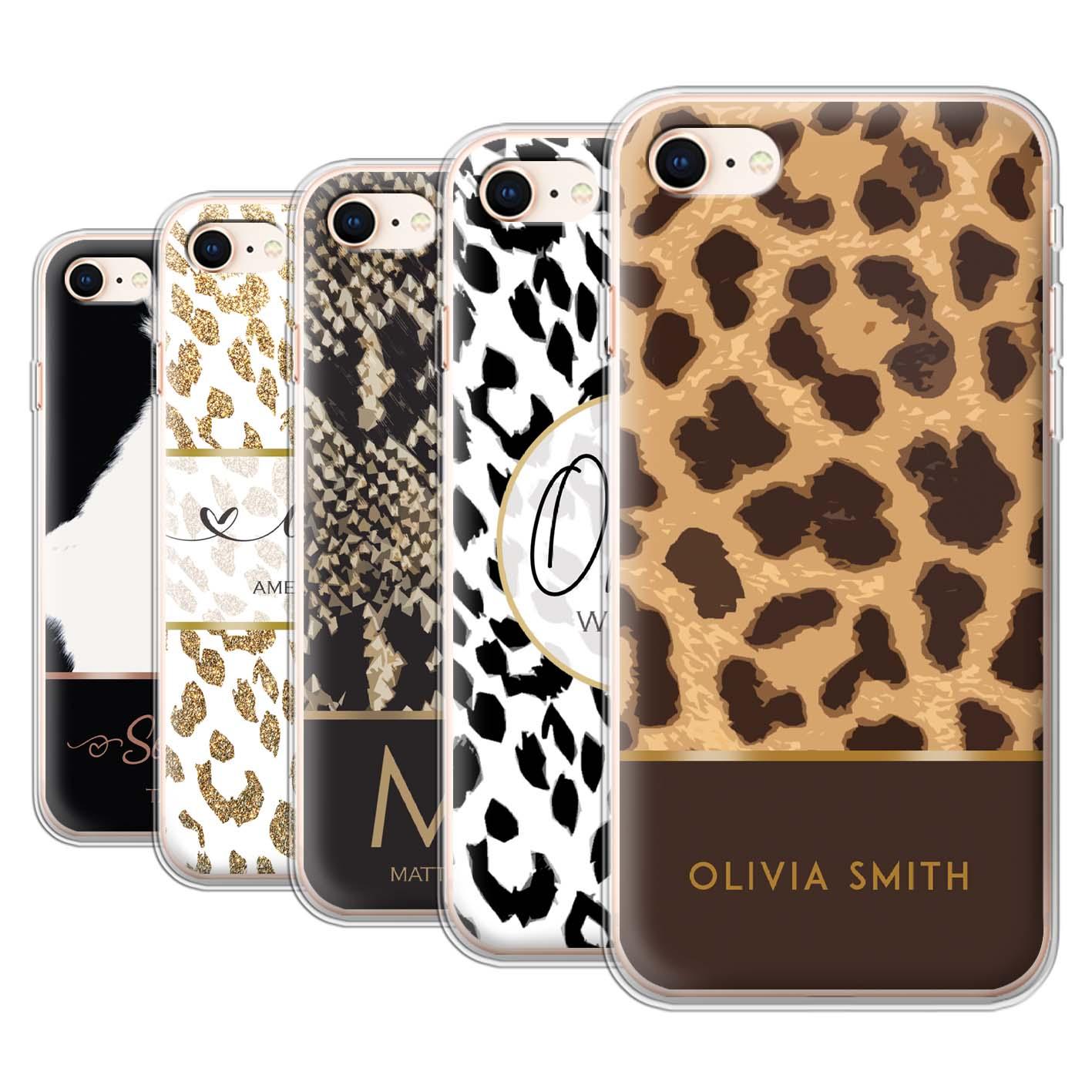 Personalised-Gel-TPU-Case-for-Apple-iPhone-8-Custom-Fashion-Animal-Print-Pattern