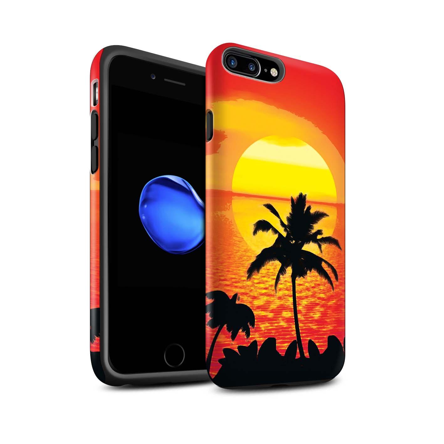 STUFF4-Matte-Tough-Phone-Case-for-Apple-iPhone-8-Plus-Beautiful-World-Art