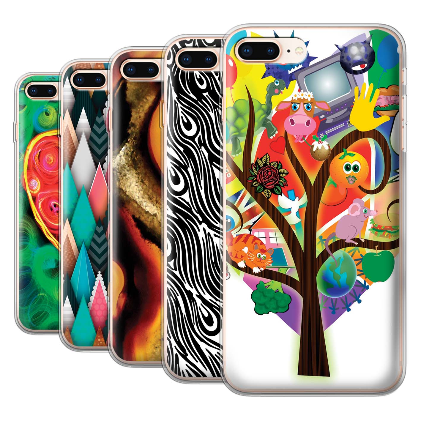 Gel-TPU-Case-for-Apple-iPhone-8-Plus-Modern-Vibrant thumbnail 1