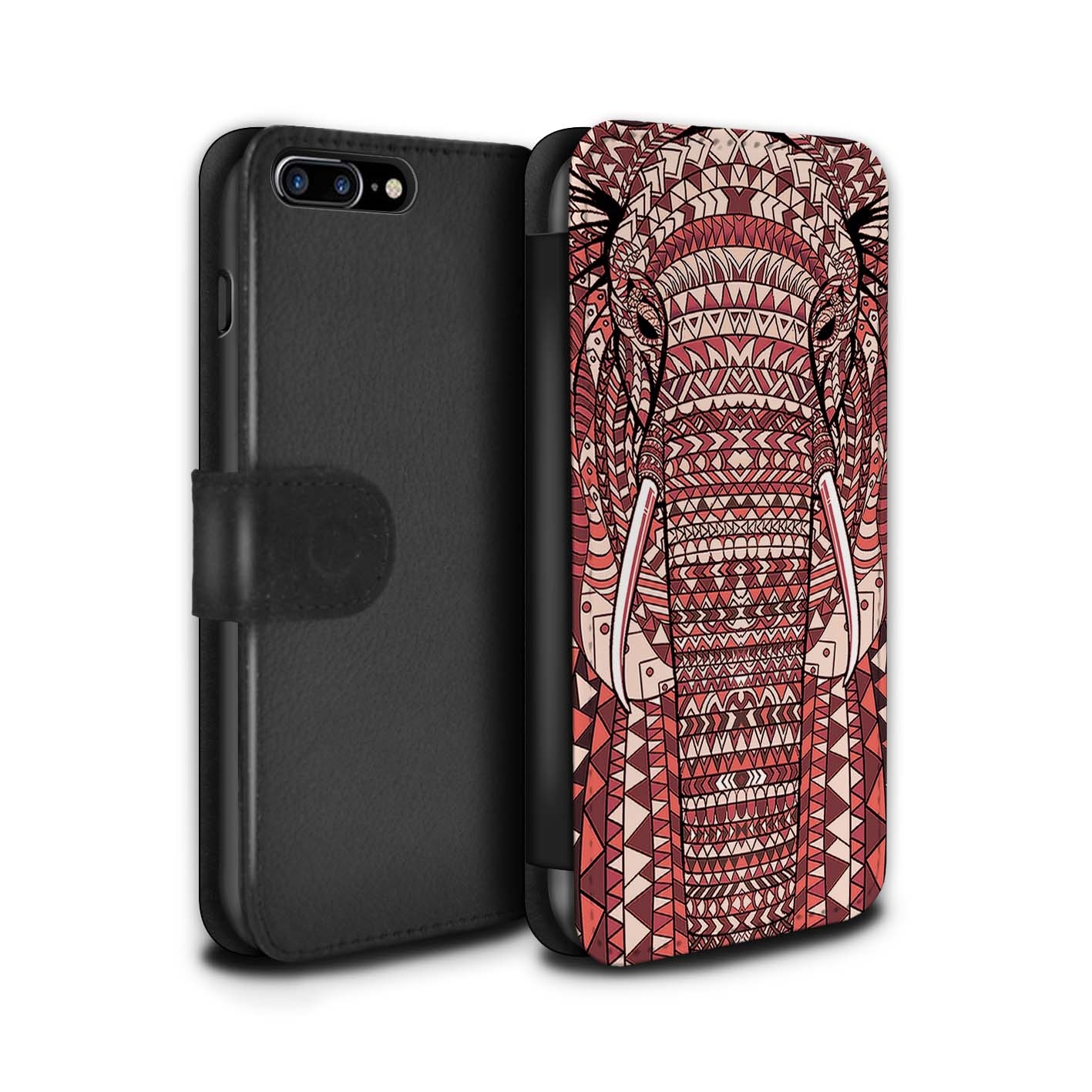 Case-Wallet-for-Apple-iPhone-8-Plus-Aztec-Animal-Design thumbnail 15
