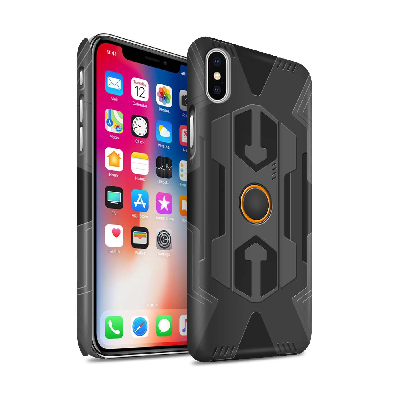 Matte-Phone-Case-for-Apple-iPhone-X-10-Armour-Armor thumbnail 11