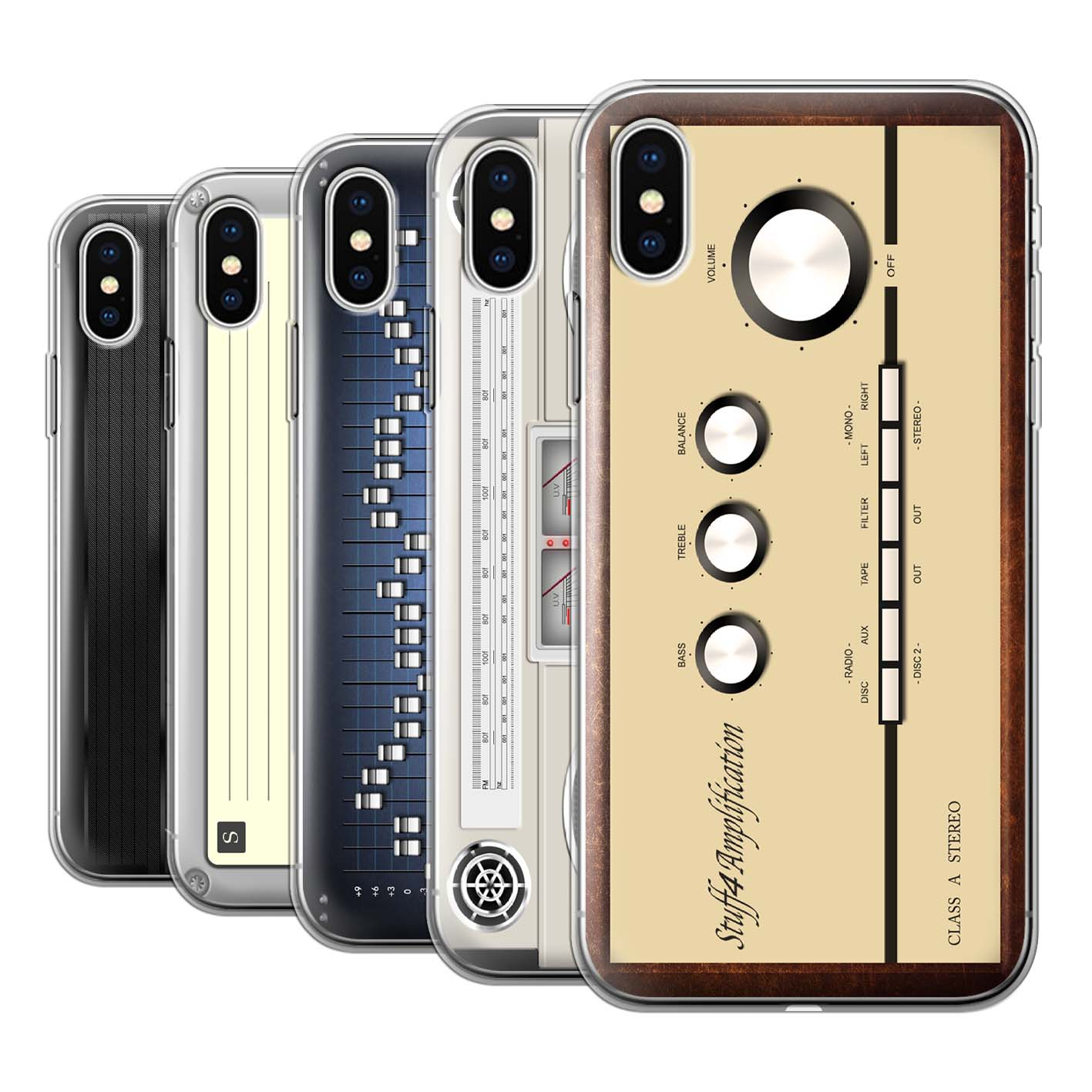 Gel-TPU-Case-for-Apple-iPhone-X-10-Retro-Tech
