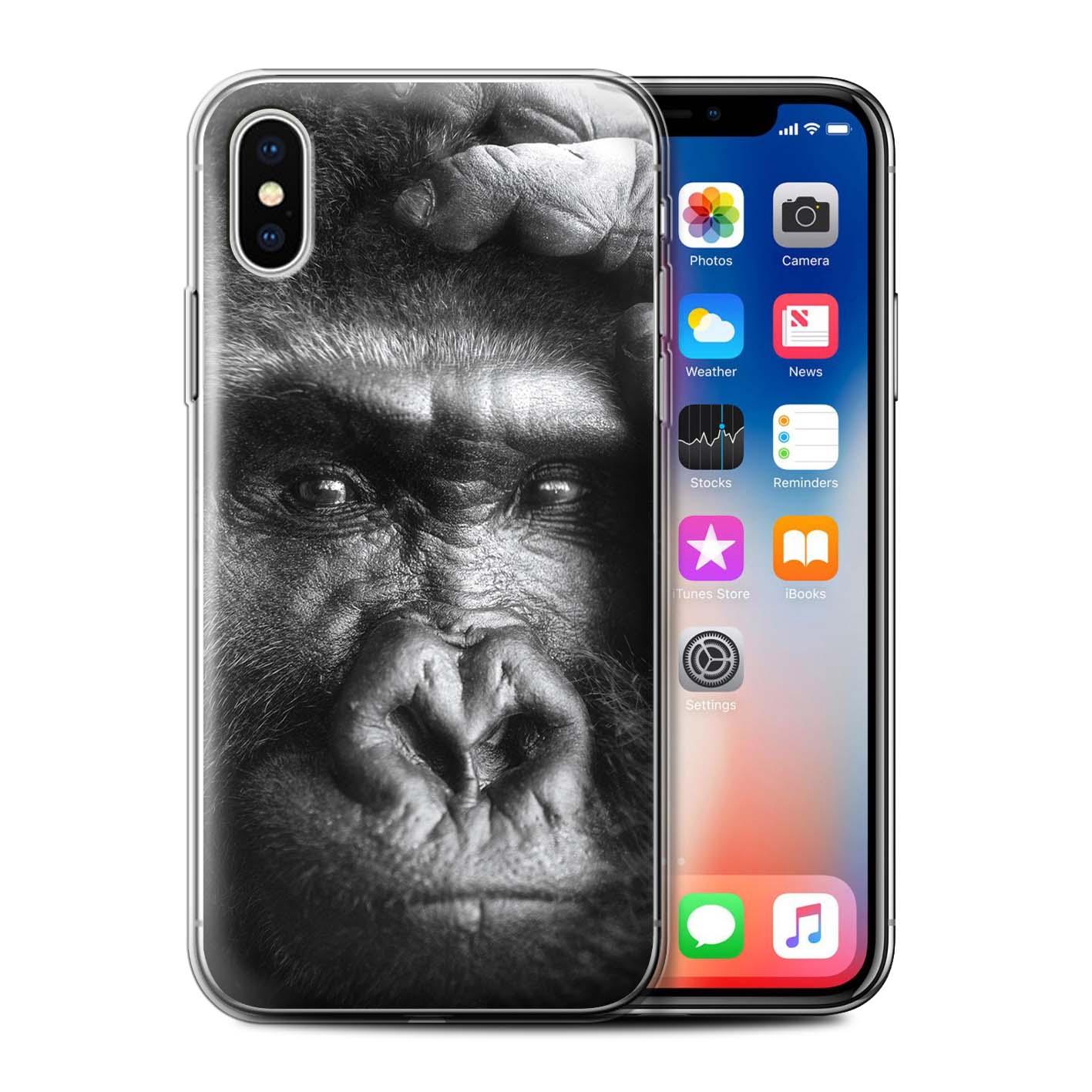 Gel-TPU-Case-for-Apple-iPhone-X-10-Wildlife-Animals thumbnail 14