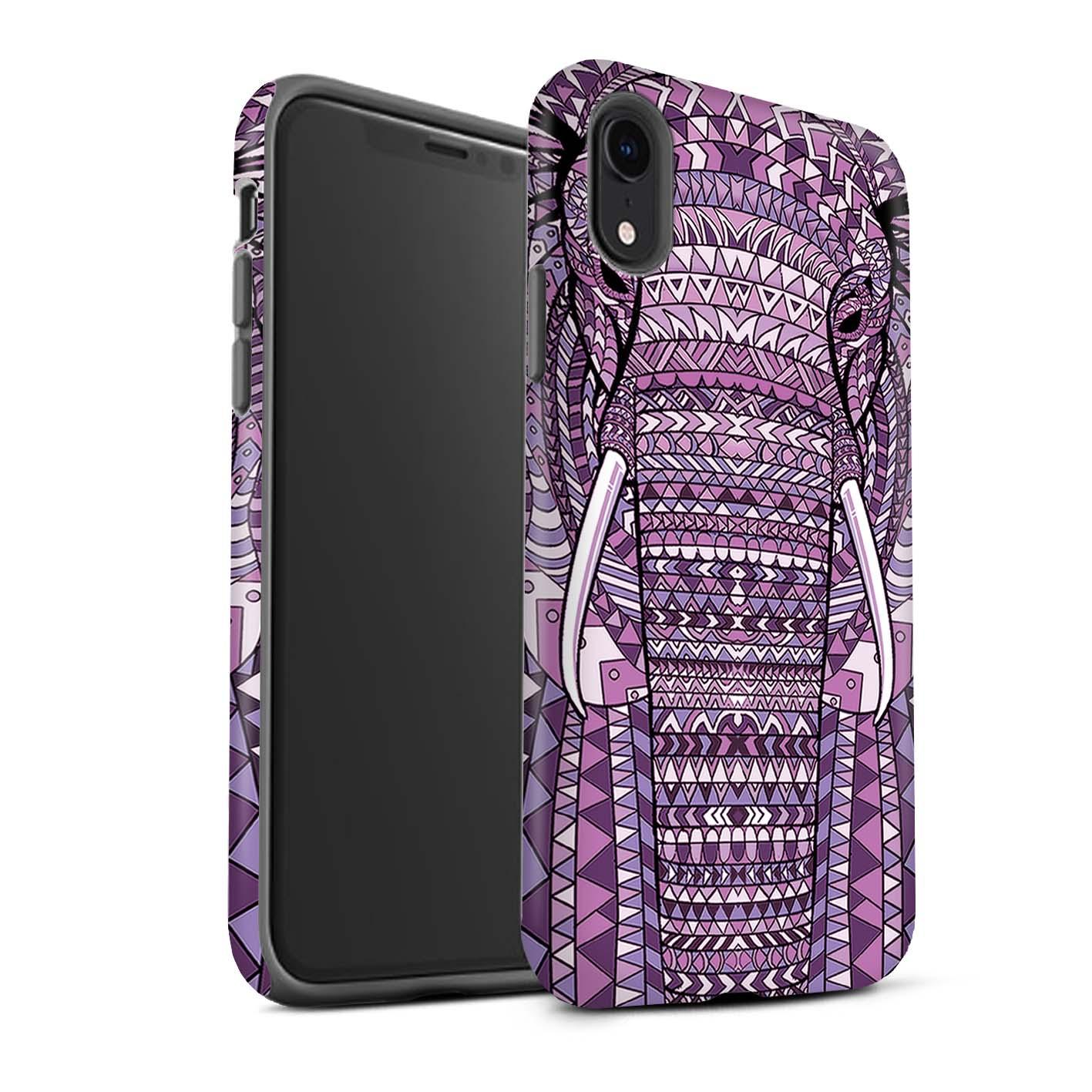 Matte-Tough-Case-for-Apple-iPhone-XR-Aztec-Animal-Design thumbnail 13