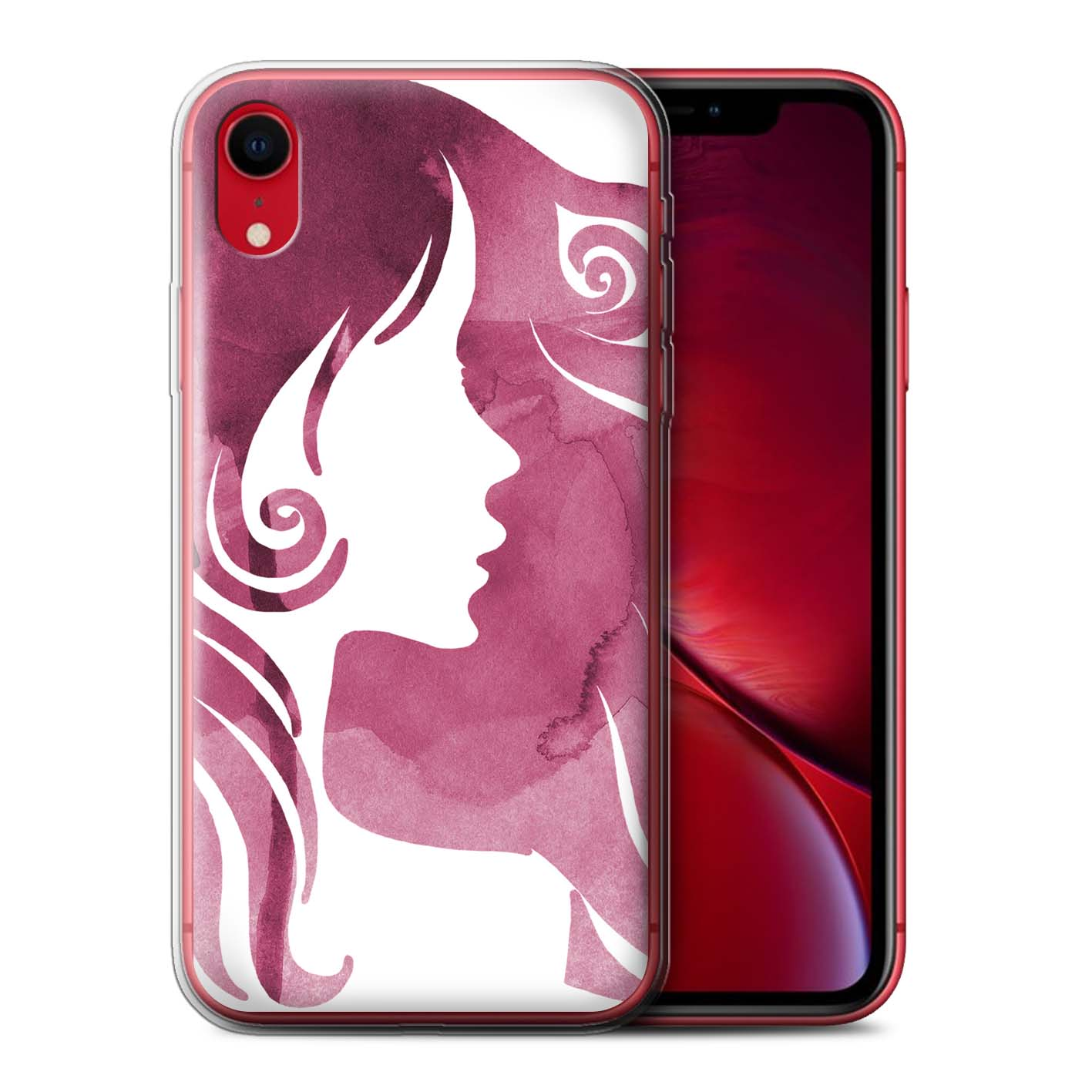 Stuff-4-Gel-TPU-Etui-De-Telephone-Pour-Apple-iPhone-XR-ROUGE-fashion