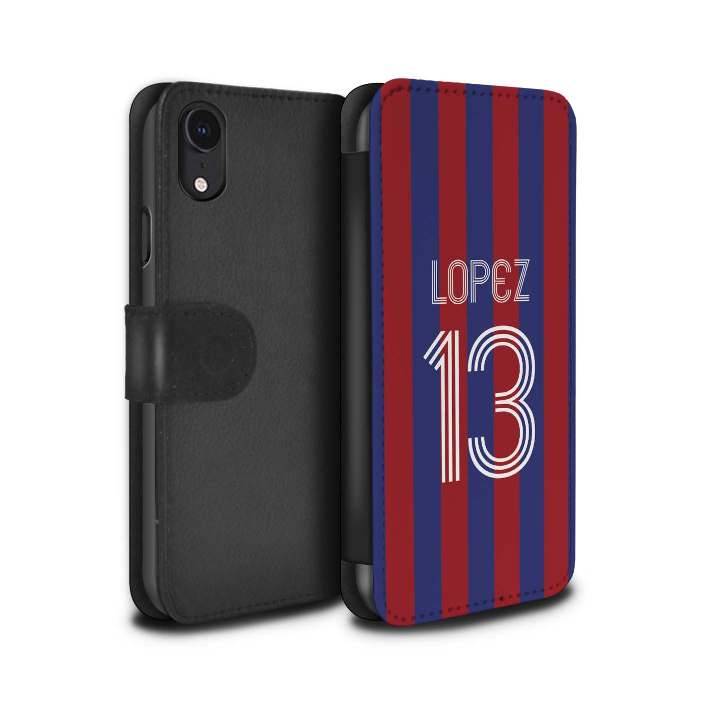 Personalised-Case-Wallet-for-Apple-iPhone-XR-Custom-Euro-Football-Club-Shirt-Kit thumbnail 11