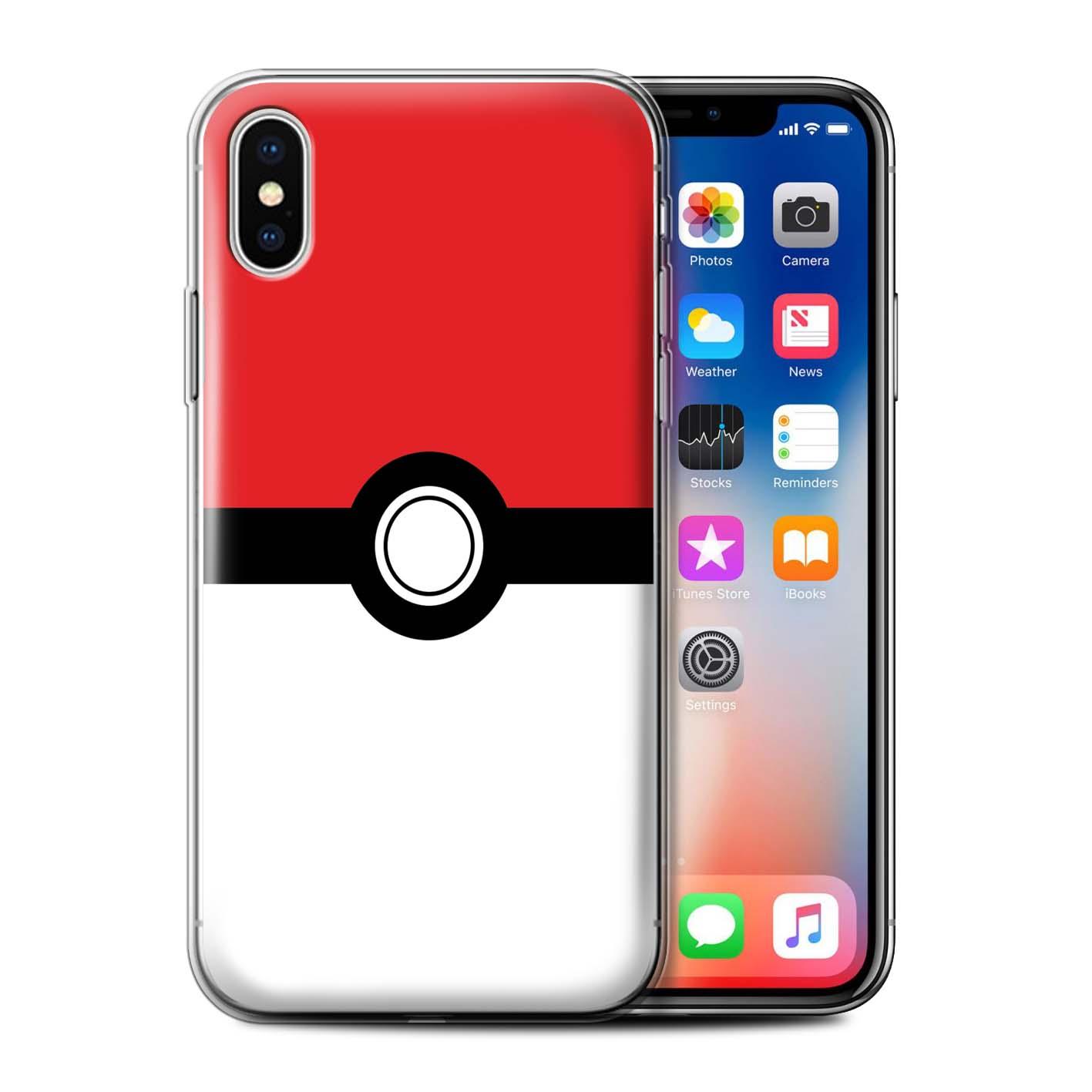 Gel-TPU-Case-for-Apple-iPhone-XS-Pokeball-Anime-Inspired thumbnail 11