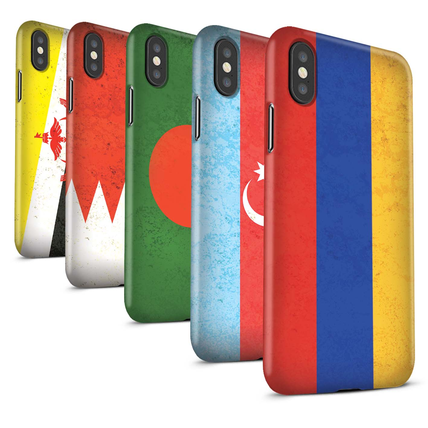 Matte-Phone-Case-for-Apple-iPhone-XS-Max-Asian-Flag