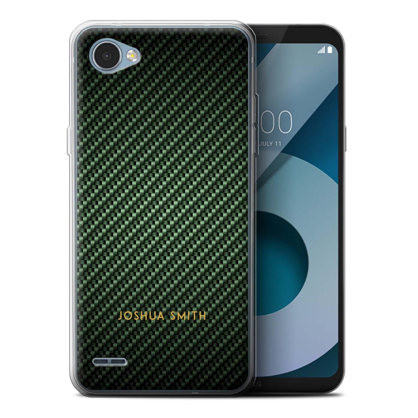 Personalised-Carbon-Fibre-Effect-Case-for-LG-Q6-M700-Initial-Name-Gel-TPU-Cover miniatuur 13