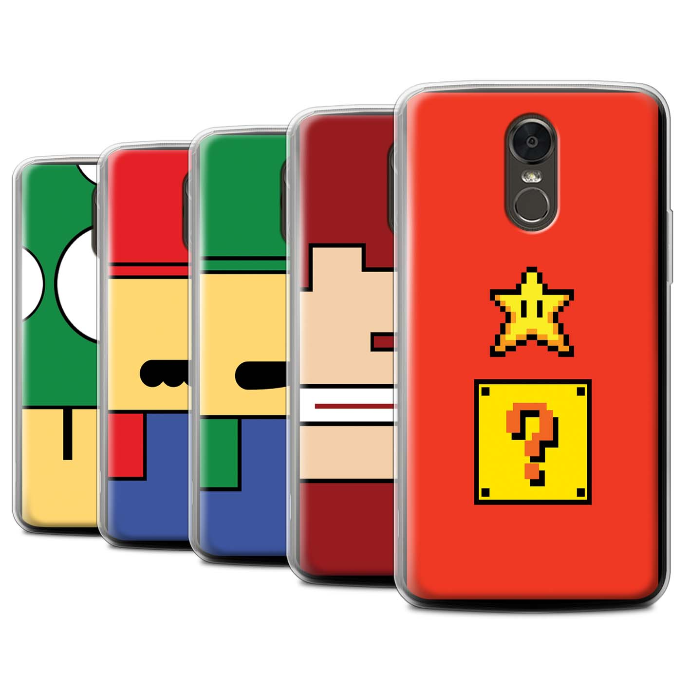 Gel-TPU-Case-for-LG-Stylus-3-Stylo-3-K10-Pro-Retro-Gaming-Characters