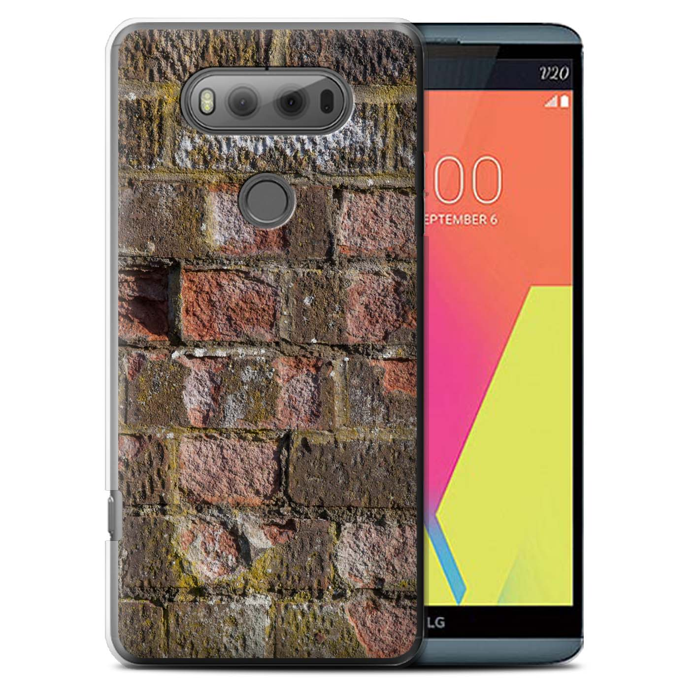 Cement/Red Brickwork Design for Lg V20 F800/H990/Vs995 Clear