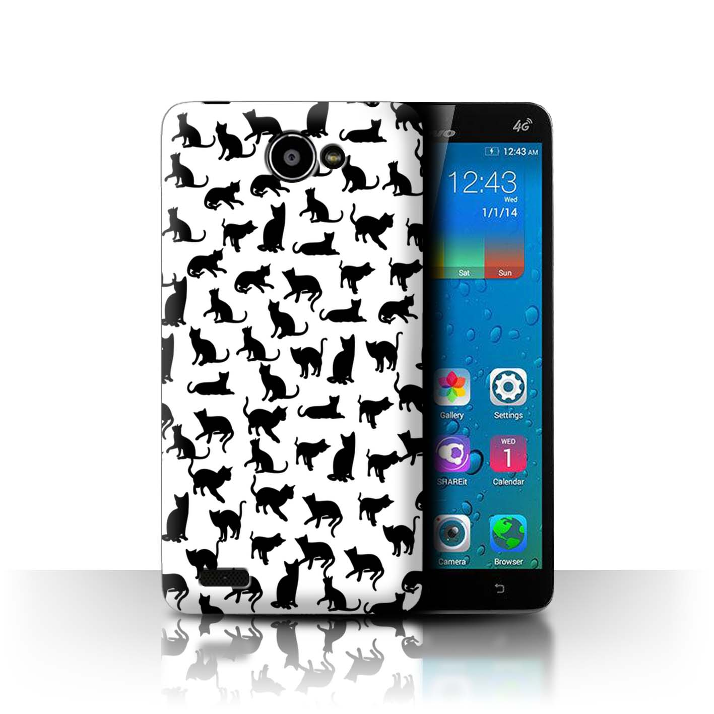 STUFF4-Back-Case-Cover-Skin-for-Lenovo-A768T-Cute-Cartoon-Cat