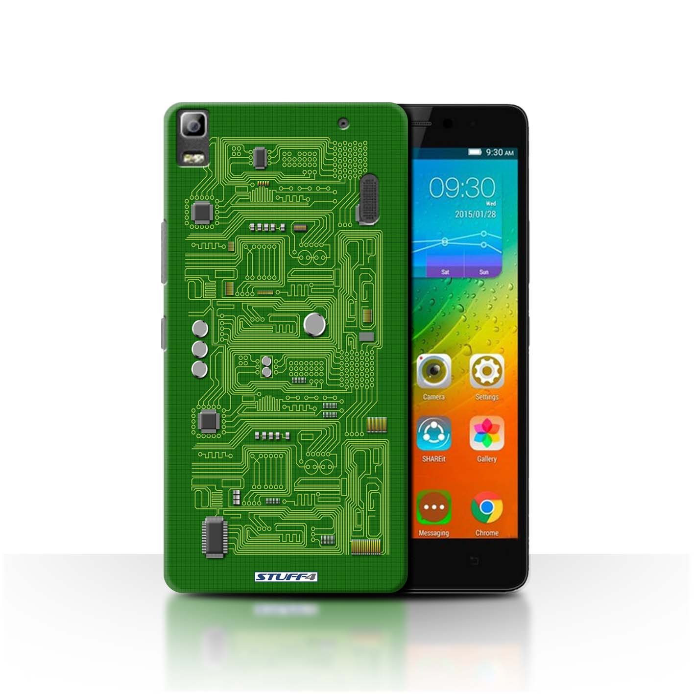 detailed look 3b266 d1785 Green Circuit Board Design for Lenovo K3 Note/K50-T5 Clear Hard Back ...