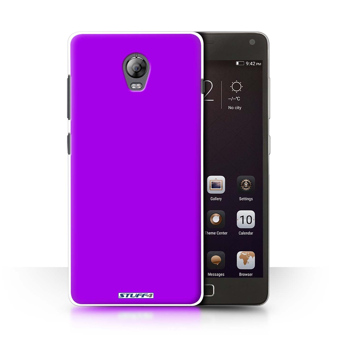 free shipping 94641 c1ad3 Purple Colours Design for Lenovo Vibe P1 Clear Hard Back Case