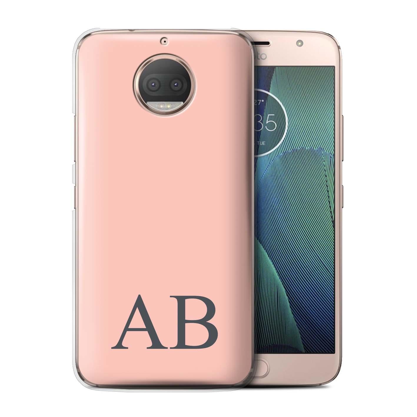 Personalisiert-Pastell-Monogramm-Huelle-fuer-Motorola-Moto-G5S-Plus-Initiale-Case