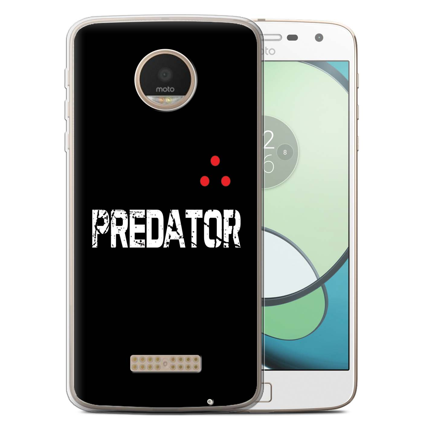 STUFF4-Gel-TPU-Phone-Case-for-Motorola-Moto-Z-Play-Droid-Alien-Hunter-Film-Art
