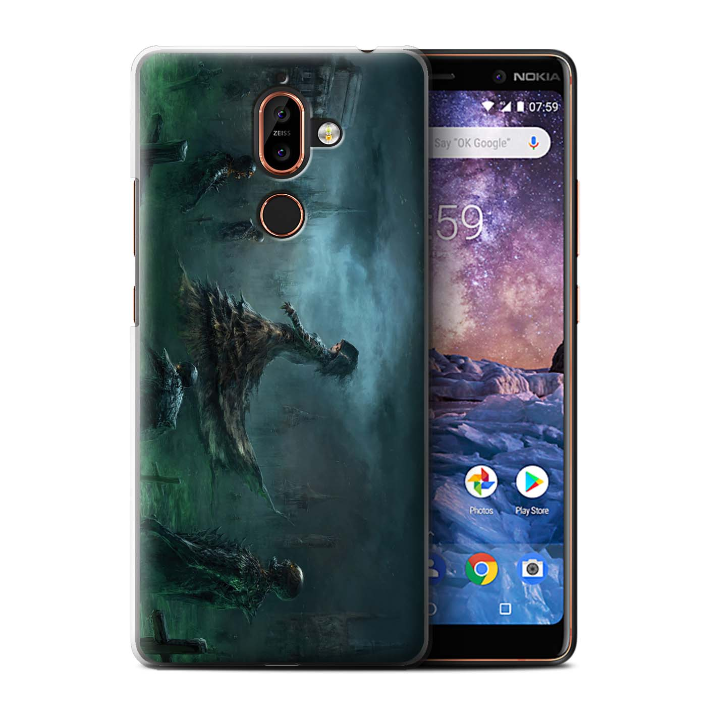 Officielle-Chris-Cold-Coque-pour-Nokia-7-Plus-2018-Pegre-Enfer